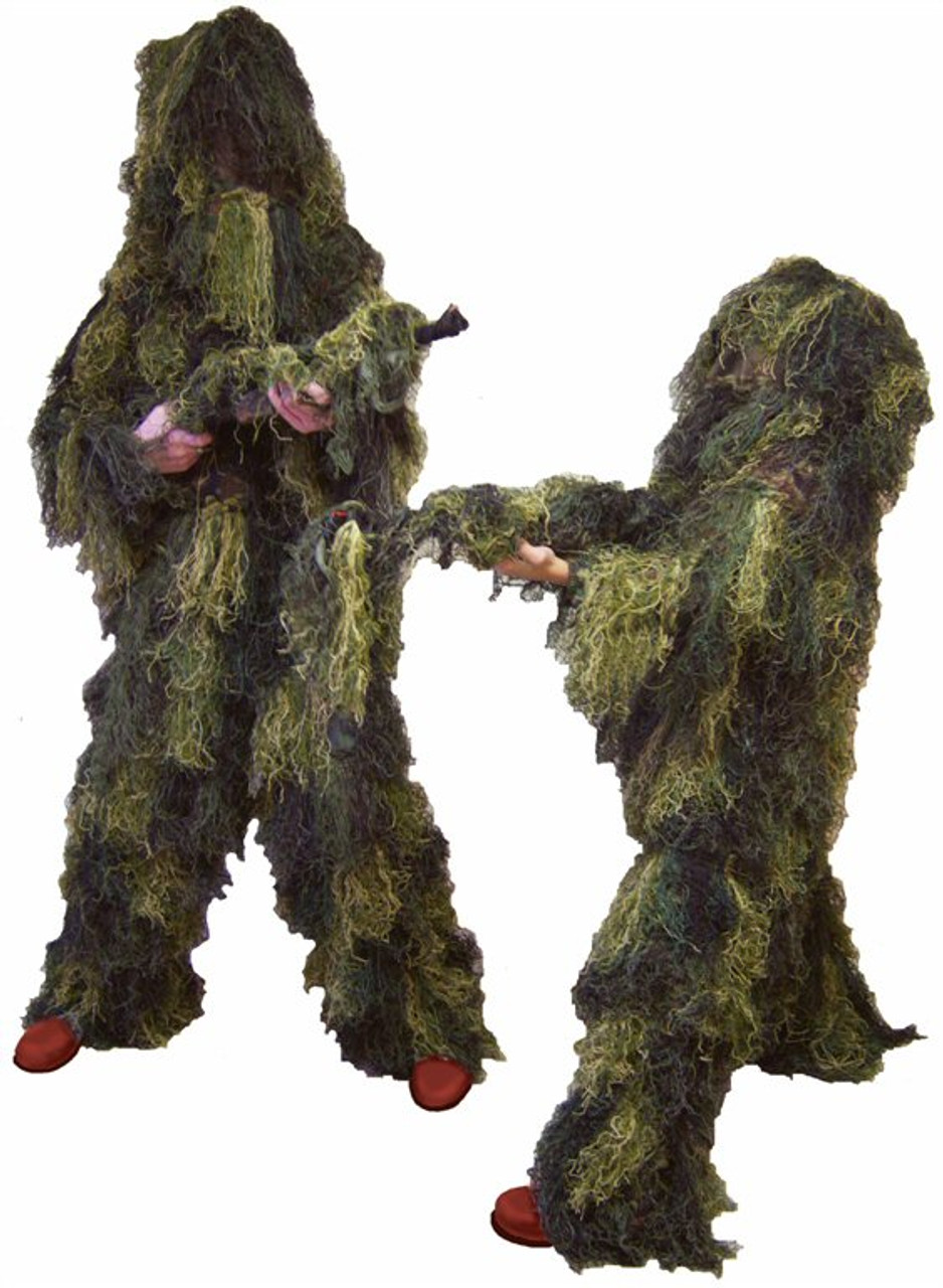 Bag Snow Field Camouflage Ghillie Suit Jacket Pants Head Cover Rifle Cover