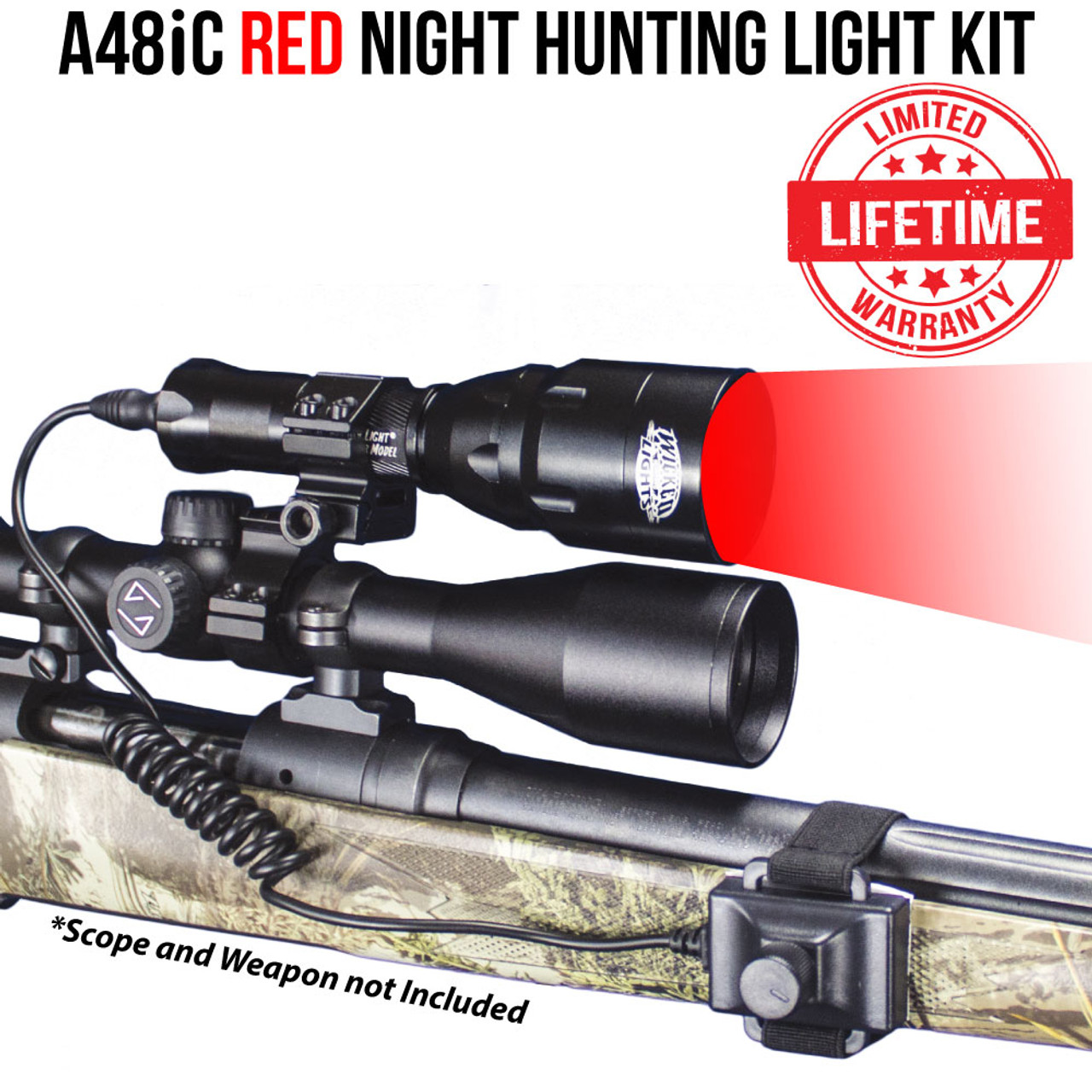 Wicked Lights W400 Replacement RED LED for night hunting Hog Predators