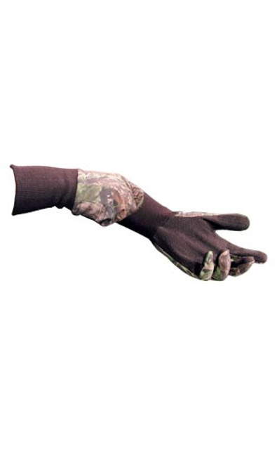 Primos Cotton Gloves with Sure-Grip & Extended Cuff in MO New Break Up 6392