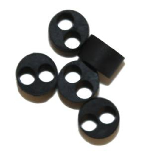 JC Product  Package of 5 Two Hole Rubber Bushings TRB001