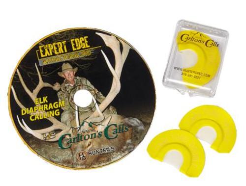 Carltons Calls Expert Edge Elk Diaphragm Calls with DVD 70317