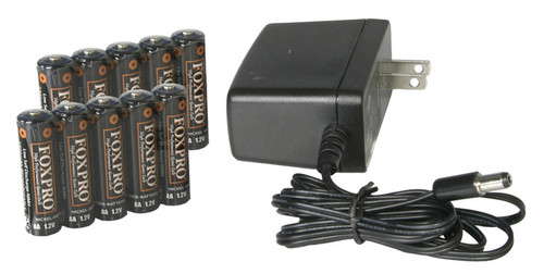 FOXPRO Rechargeable Battery Kit with Charger and 10 AA NiMh Batteries for Hellfire / Shockwave/ Banshee
