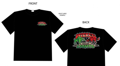 Wicked Hunting Lights™ Field Staff Black T-Shirt Heavy Weight Cotton