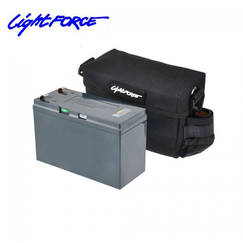 Lightforce 12V Lithium Iron Phosphate LiFePO4 Portable Power Pack with Battery, Charger, and Case LA135 / BP7LIFEUS