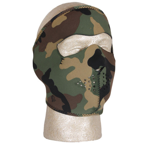 Woodland Camouflage Neoprene Thermal Cold Weather Mask 72-625