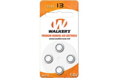 Walkers #13 Air Cell Batteries, 4-pk BAT013