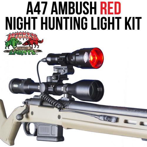 Wicked Lights A47 Ambush RED Night hunting light kit