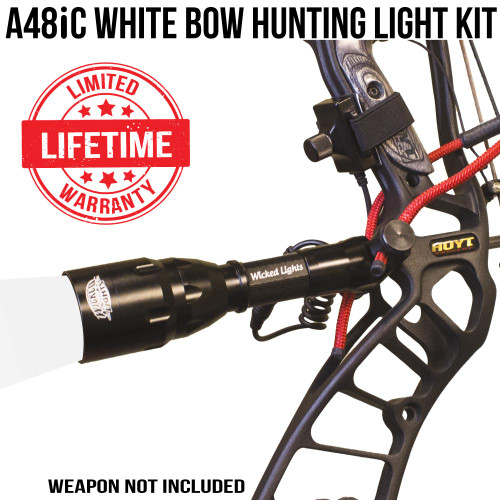 Wicked Lights A48iC White Bow Hunting Light Kit thumbnail
