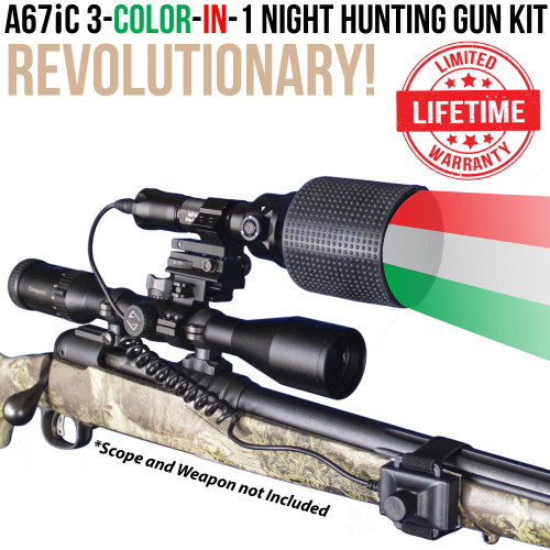 Wicked Lights A67iC 3-Color-In-1 Night Hunting Light Gun Kit thumbnail