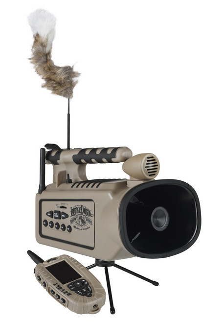 Lucky Duck Revolt Digital Remote Controlled Predator Call, with Built-In Motorized Decoy