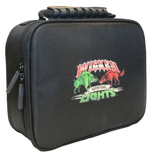 Wicked Lights Large Soft Sided Carry Case for One Light and One Headlamp