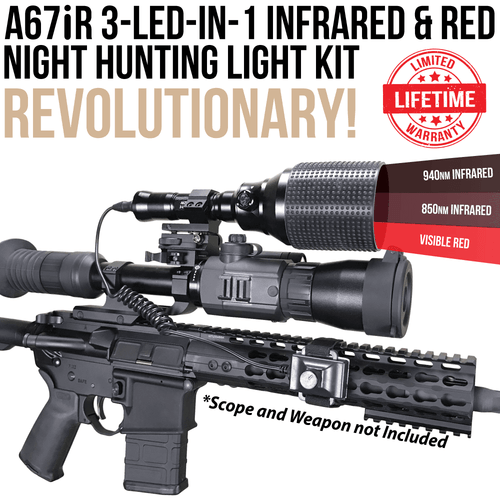 Wicked Lights A67iR 3-LED-iIn-1 Infrared and Red Night Hunting Light Kit thumbnail