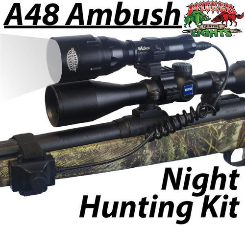 Wicked Lights™ A48 Ambush Light with Intensity Control Predator & Hog Night Hunting Kit with WHITE LED