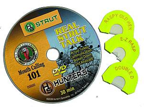 H.S. Strut DVD and Turkey Call Combo Mouth Calling Pack 101 06992
