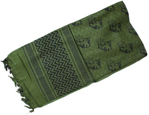 actical Woven Shemagh Scarf Wild Hog OD / Black 70-09