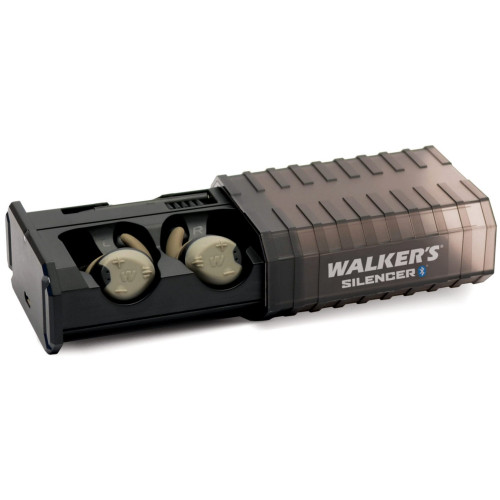 Walker's Silencer Rechargeable ELECTRONIC EAR Protection Ear Buds (Pair) With Bluetooth GWP-SLCR-BT