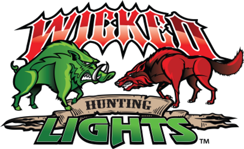 """Wicked Hunting Lights X-Large 8"""" x 12"""" Color Logo Vehicle Window Decal"""