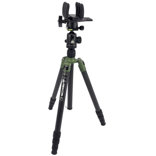 REKON CT-1 Carbon Fiber Tripod with BH-1 Ball head, RTA1 Picatinny to Arca-Swiss Mount, and Kopfjager Direct Mount Reaper Grip