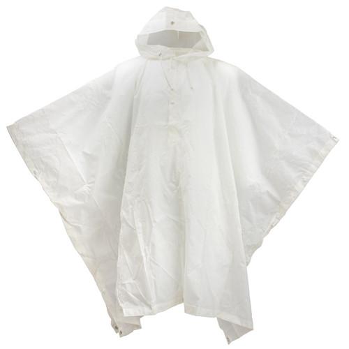 White Swiss Army Snow Poncho 039