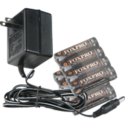 FOXPRO Charger & 8 NiMH Batteries for use with FOXPRO FX3, FX5, NX4, Firestorm, Fusion, Crossfire, & Fury Only.