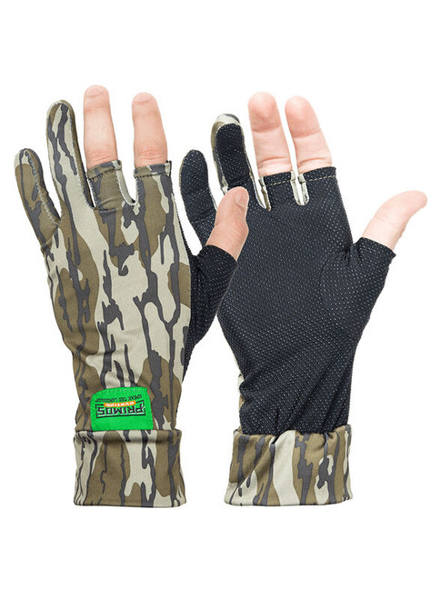 Primos Mossy Oak Bottomland Stretch Fingerless Gloves PS6681
