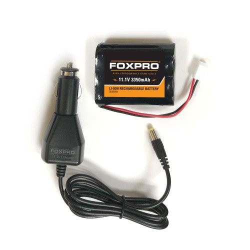 FOXPRO Rechargeable High Capacity 11.1v 3,350mAh Lithium Battery / Car Charger Kit