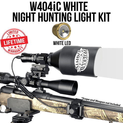Wicked Lights® W404iC WHITE Night Hunting Kit for Coyote, Hog, Predator