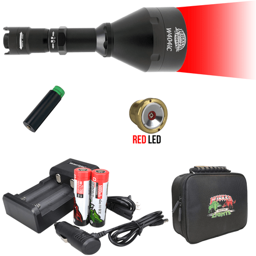 Wicked Lights® W404iC RED Scan Plus Night Hunting Light Kit for Hog, Coyote, and Predators