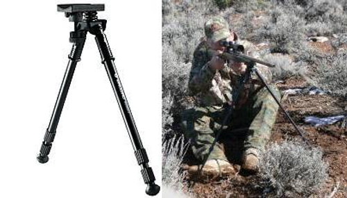 Vanguard Rifle Stock Mounted Bipod 12.75 to 27 Inch Adjustable Pivoting Quick Sling Attach Point Install Equalizer 2