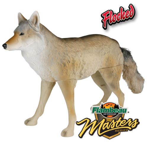Flambeau FLOCKED Lone Howler Coyote Predator Decoy 5986MS