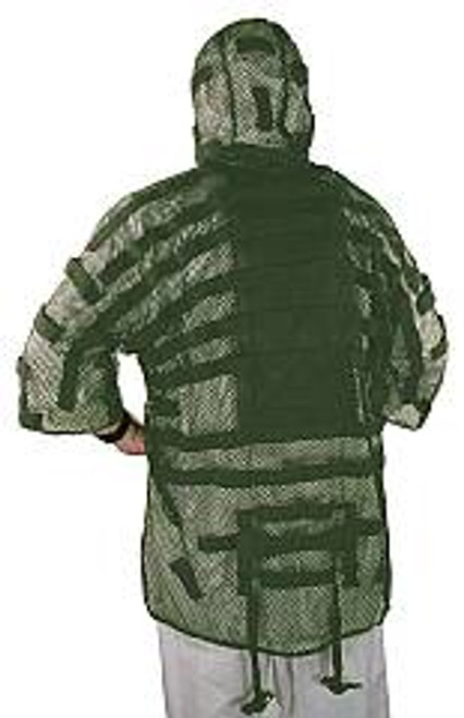 VooDoo Tactical Lightweight Green Snipers Ghillie Suit Tog with Hydration Pouch 209024Green