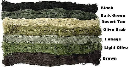 Mil Spec Plus 1 Pound DARK GREEN Ghillie Suit Yarn 029129DarkGreen D