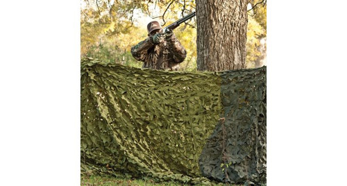Red Rock Outdoors Camo Net Hunting SeriesWOODLAND CAMO GREEN Leaf Cut with Carry Pouch 810G