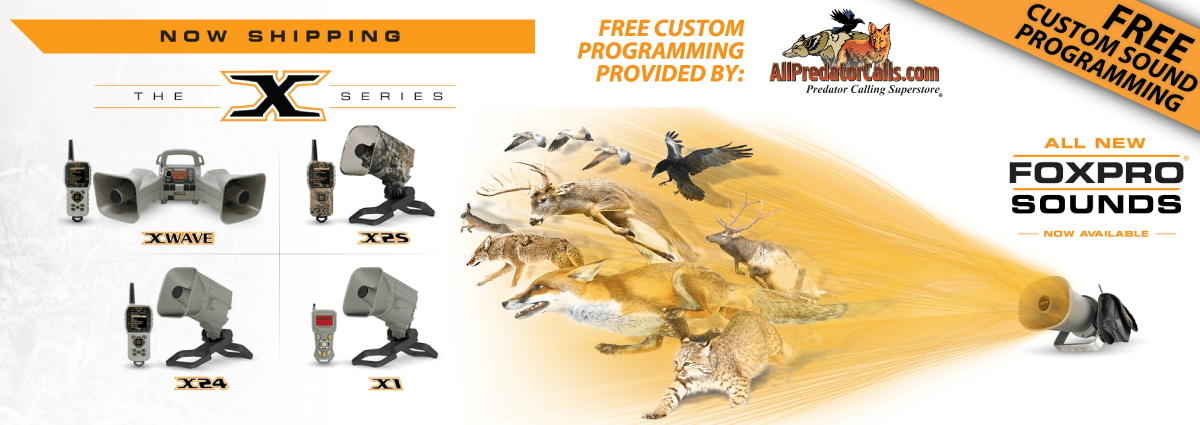 Every Programmable FOXPRO sold includes FREE custom sound programming - you pick the calls!
