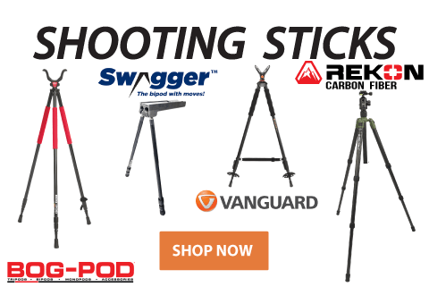 Click to See Our Selection of Shooting Sticks and Tripods!
