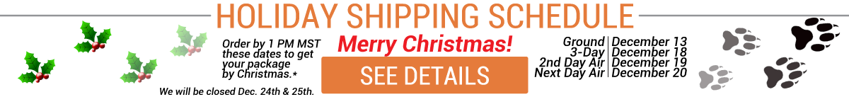 Click to see our Shipping Deadlines for Christmas Delivery