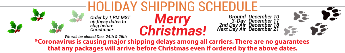 2020 Christmas Shipping Schedule