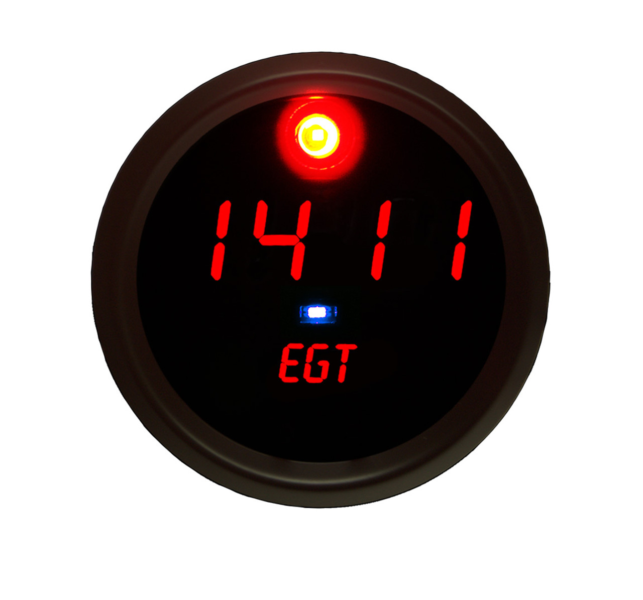 Exhaust Gas Temperature (EGT) Programmable Co-Pilot Gauge Black Bezel - C9017 Worrying about spikes in exhaust temperature can now be a thing of the past with the Intellitronix Exhaust Gas Temperature Programmable Co-Pilot Gauge. The EGT Co-Pilot Gauge automatically detects and alerts you when your EGT level surpasses your custom, pre-set temperature range, allowing you to worry less about constantly monitoring your gauges and focus more on doing what you love: driving!  The EGT Programmable Co-Pilot Gauge is microprocessor-controlled and reads in one-degree increments with spot-on accuracy!  Designed to work with any vehicle! It is accuracy, elegance, and intelligence all in one breathtaking display!