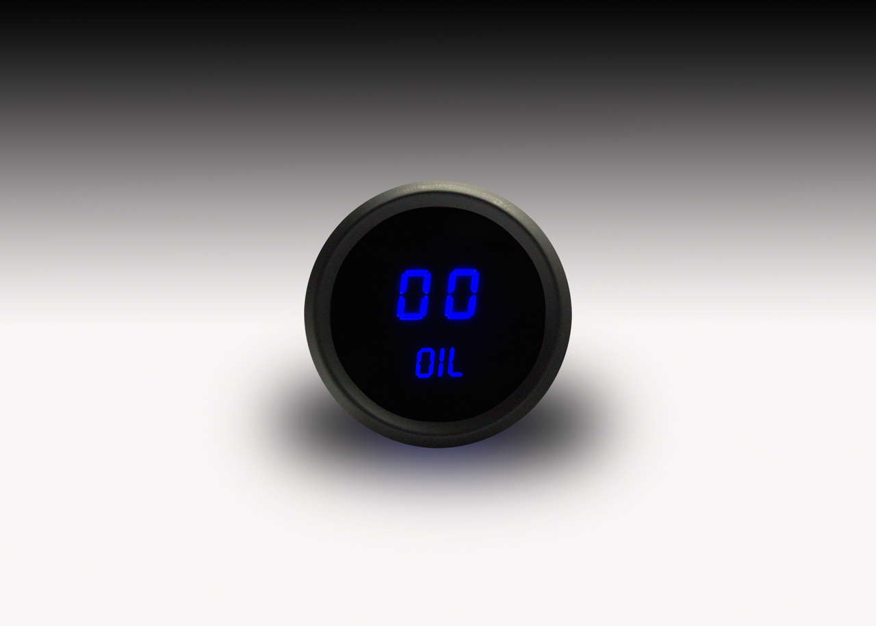 Oil Pressure LED Digital Black Bezel - M9114 Oil Pressure is essential to the life of your engine, so why risk it? The Intellitronix LED Digital Oil Pressure gauge is microprocessor-controlled with 0-100 PSI accuracy and universally adaptable. This Oil Pressure gauges is accurate, super bright, and intelligent all in one.  How can you not need it?