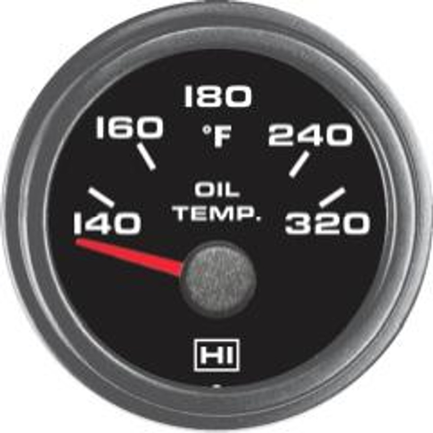 Hewitt Part #011-102-1R-1  140-320 Degrees Fahrenheit, Two Inch (50mm) Diameter, White LED Lighted, Red Lighted Pointer. Hewitt Provides Many Style Variations, Contact Us for Your Requirements. Commonly used to monitor lubricant temperatures on internal combustion engines. May be used on Automobiles, Trucks, Buses, Marine, Motor homes, Aircraft, Performance Vehicles, Off-Road Vehicles, Recreational Vehicles, Industrial & Construction Equipment.