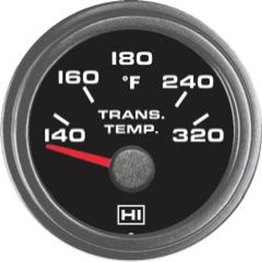 Hewitt Part #011-103-1R-1 Transmission Temperature Gauge, 140-320 Degrees Fahrenheit, Two Inch (50mm) Diameter, White LED Lighted, Red Lighted Pointer. Hewitt Provides Many Style Variations, Contact Us for Your Requirements. Commonly used to monitor lubricant temperatures of transmission & drivetrain. May be used on Automobiles, Trucks, Buses, Marine, Motor homes, Aircraft, Performance Vehicles, Off-Road Vehicles, Recreational Vehicles, Industrial & Construction Equipment.