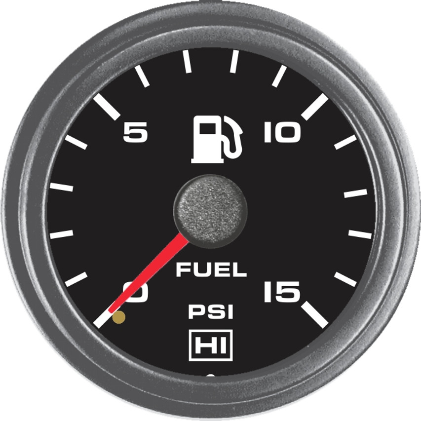 Hewitt Part #100-100-1R-1, Reads 0-15psi, Two Inch (50mm) Diameter, White LED Lighted, Red Lighted Pointer. Includes 8ft. Line Kit. Hewitt Provides Many Style Variations, Contact Us for Your Requirements.   Commonly used to monitor fuel pressure on internal combustion engines. May be used on Automobiles, Trucks, Buses, Marine, Motor homes, Aircraft, Performance Vehicles, Off-Road Vehicles, Recreational Vehicles, Industrial & Construction Equipment.