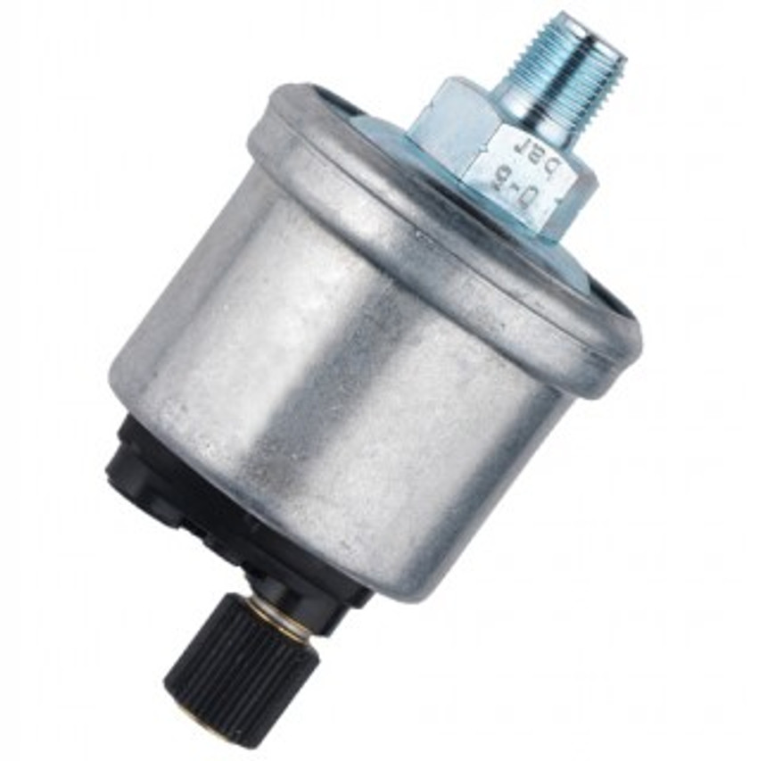 VDO Pressure Sender, Part #360-021 - 0-150 PSI/10 Bar, 1/4-18 NPT Thread, 10 - 180 Ohms, Standard Ground.  No Warning Light Contact.  VDO List $67.50  PLEASE NOTE: Threads on Sender Are Self-Sealing, Use of Sealing Compounds Will Effect Sender Operation!     Can't Find What You are looking for... Contact our Technical Support Staff!