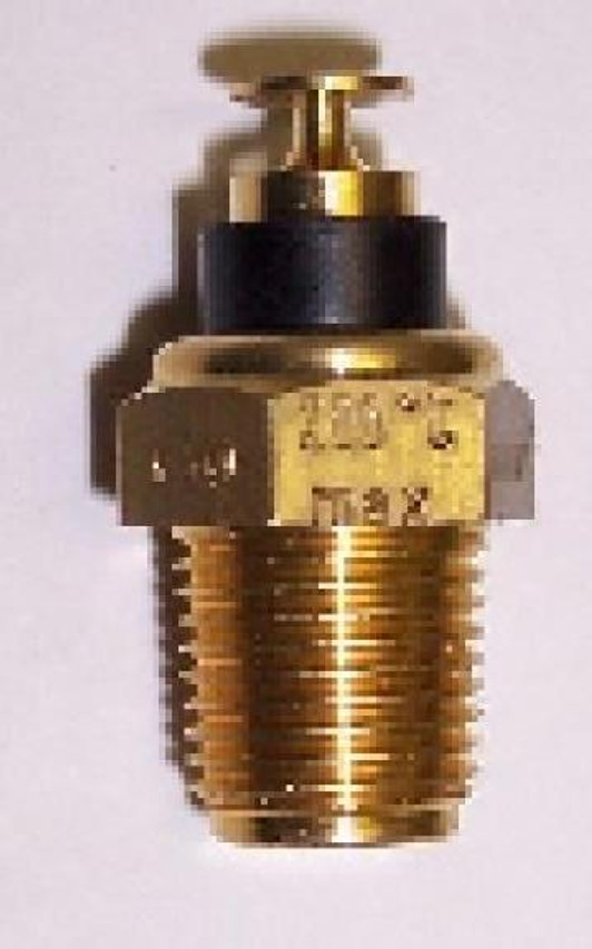 "VDO Temperature Sender, Part #323-086, 400 Degrees F/ 200 C, 1/8-27 NPT Thread, 3/8"" Long Probe.  Single Station (for one gauge), Standard Ground. For use with VDO or other Mfgs. 10-180 Ohm Range Gauges.  LIST $19.80  INSTALL NOTE: Sender Threads are Self-Sealing. Use of Sealing Compounds Will Affect Sender Output.       Can't Find What You are looking for... Contact our Technical Support Staff!"