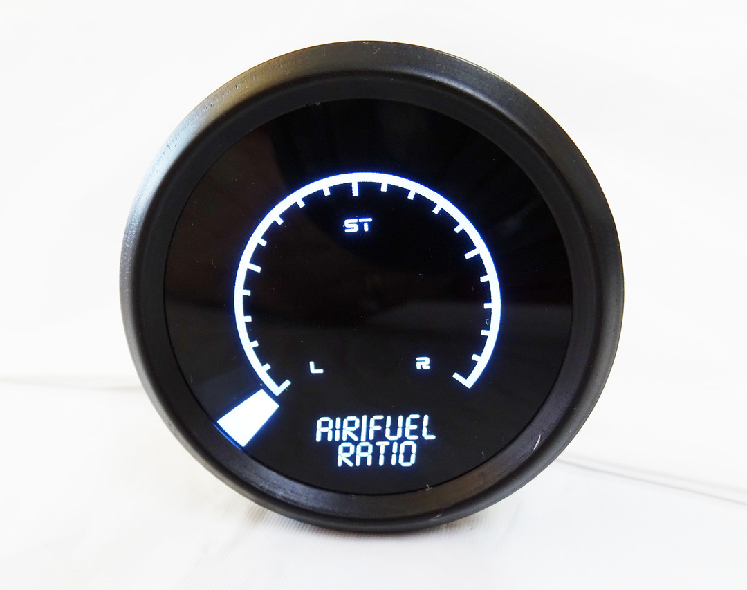 Air/Fuel Ratio Narrowband LED Digital Bargraph Gauge Black Bezel - B7008 Intellitronix Air/Fuel Ratio Narrowband LED Digital Bargraph Gauge is the ultimate way to monitor the ratio of fuel to air in your vehicle's engine and keeps your engine purring with a lean, rich and stoich fuel mixture. Avoid extensive damage to your vehicle's engine by running too lean.