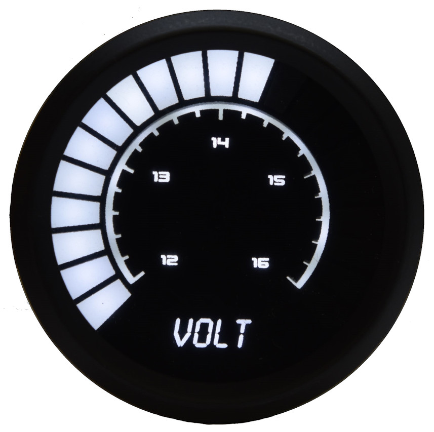 Voltmeter Analog LED Bargraph Black Bezel – B9015  The power of your vehicle is truly only complimented by one other crucial asset: appearance. Now with the new line of Individual Analog LED Bargraph Gauges, you can finally leave that worry deep in the past. Now you can really watch your voltage level with the Intellitronix super bright LED digital voltmeter! The Voltmeter Analog LED Bargraph is a microprocessor controlled gauge with 12 to 16 volts accuracy and works with any vehicle! It is accurate, super bright, and intelligent all in one.