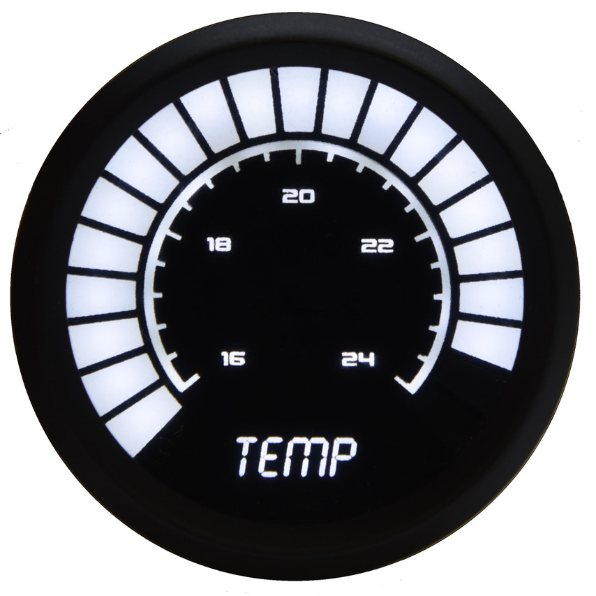 Water Temperature Analog LED Bargraph Black Bezel – B9113 Now you can really watch your temperature with the Intellitronix super bright analog LED digital bargraph water temperature gauge! The Water Temperature Analog LED Bargraph is microprocessor controlled with 160 to 240 degrees accuracy and works with any vehicle!