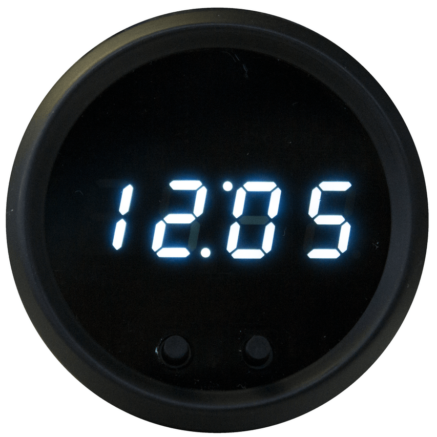 Clock LED Digital Chrome Bezel - MS8009 Intellitronix LED Digital Clock is microprocessor-controlled and works with any vehicle. This sharp looking Clock uses the 12-hour format with 2 button programming and the display completely blacks out when the ignition is turned off. It is accurate, super bright, and intelligent all in one.