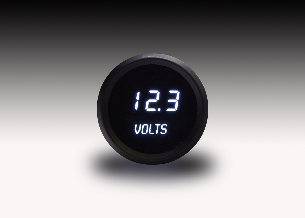 Voltmeter LED Digital Black Bezel - M9015 Intellitronix LED Digital Voltmeter is microprocessor-controlled with 7.0 to 25.5 volts accuracy and works with any vehicle! The LED Digital Voltmeter with its precision, breath taking display shows off its intelligent all in one. Intellitronix gauges feature digits 33% larger than any other manufacturer, guaranteed!