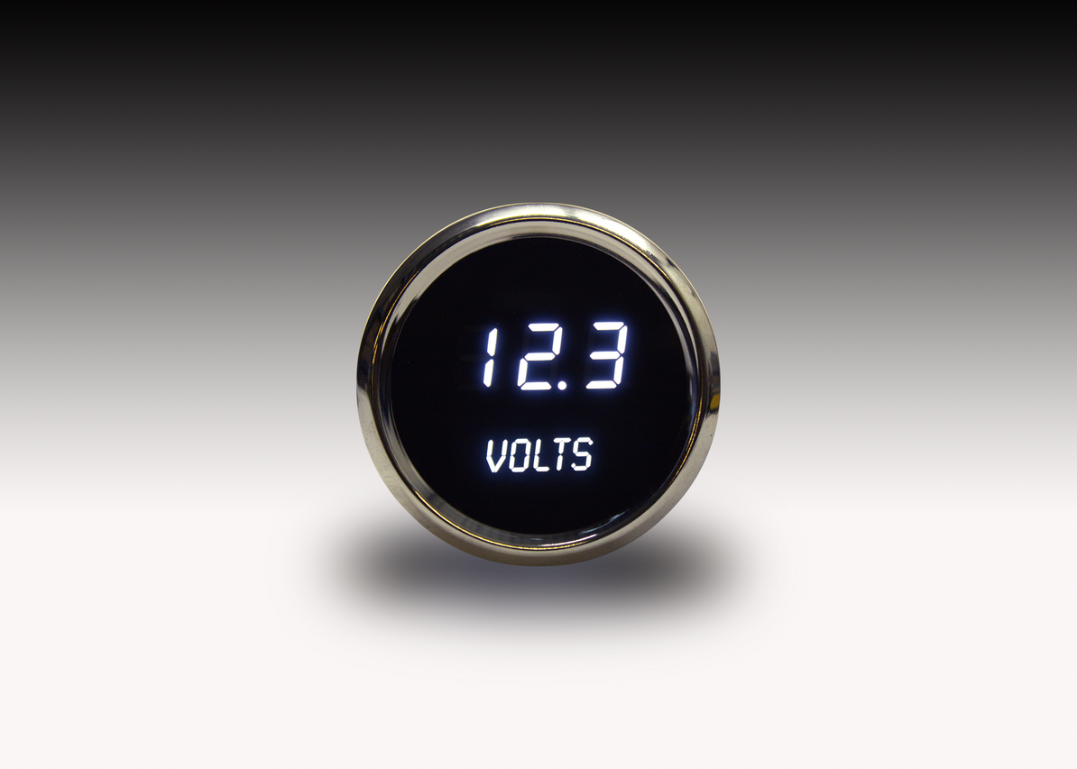 Voltmeter LED Digital Chrome Bezel - MS9015 Intellitronix LED Digital Voltmeter is microprocessor-controlled with 7.0 to 25.5 volts accuracy and works with any vehicle! The LED Digital Voltmeter with its precision, breath taking display shows off its intelligent all in one. Intellitronix gauges feature digits 33% larger than any other manufacturer, guaranteed!
